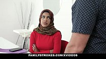 Family Strokes - Stepsister Learns To Suck My Cock In Her Hijab