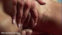 Horny slut sucks her way to a sticky cumshot