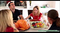 Cute And Tiny Teen Step Sister Angel Smalls And Her Step Brother Fuck During Thanksgiving Dinner pornhub video