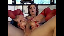 Woman in red lingerie tied up and deepthroated Thumbnail