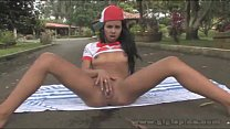 Gigi Spice masturbating outdoors - Download mp4 XXX porn videos