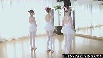 3 Teeny Ballerinas Fucked From Behind!