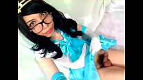 VIDEO CORTO. Mostrando la pija en cosplay de Sailor