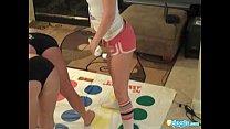 Sexy lesbian teens playing twister