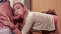 Teen Girl Stucks In A Door! Fake Hostel