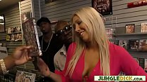 Slutty Lexi Lowe Gangbanged In Adult Video Store