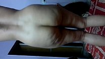 Naked dancing on bed thumbnail