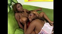 Busty black lesbian gets her cunt licked by her...