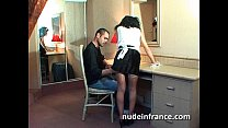 Amateur french maid analyzed with cum 2 mouth Thumbnail