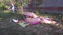 Girl masturbates her fat ass through panties صورة