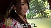 Free download video bokep Subtitled uncensored Japanese Hitomi Oki foreplay in ryokan