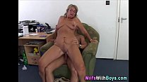 Blonde Mature Boss Anal Fuck With Applicant صورة