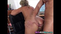 Blonde Mature Boss Anal Fuck With Applicant Thumbnail