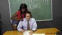 Black Student Seduces Her Teacher Into Becoming Her Slave- Ana Foxxx Femdom - 9Club.Top