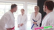 Swapping Martial Arts Muff Luna Light, Ashley Red, Brad Newman, Filthy Rich