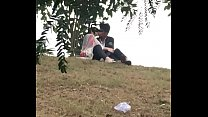 Indian lover kissing in park part 5