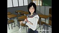 Horny anime cutie fingered in class Vorschaubild