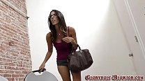 Brunette babe rides bbc Thumbnail