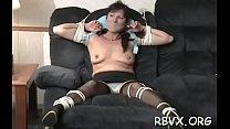 Breasty playgirl enjoys bondage