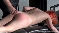 Redhead amateur spanking and tit whipping of submissive Tiny Preview
