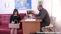 Tricky Old Teacher - Karolin Drops Her Panties