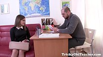 Image: Tricky Old Teacher - Karolin drops her panties
