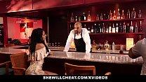 SheWillCheat - Wife Fucks BBC in Bathroom pornhub video