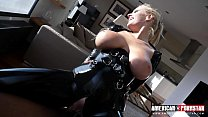 Watch Angel Wicky as she's slides up and down and gets stretched out by a Big Black Cock while covered in Latex!! thumbnail