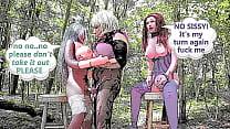 Sissy romances two blow up dolls all day part 2 cartoon slideshow blowjob fucking & creampie