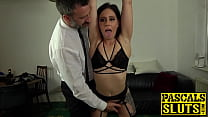 Submissive Chick Gags On Hard Cock And Rides It Wildly
