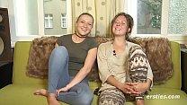 Amateur Lesbians Tamara and Sophia Get it on