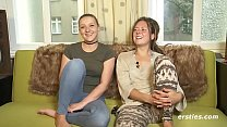 Amateur Lesbians Tamara and Sophia Get it on's Thumb