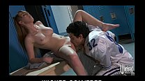 Sexy teen redhead Marie McCray is caught & fucked in the shower
