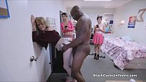 Blonde big black cocked at the dorm video