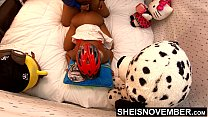 12866 4k UHD Hardcore Ebony Sex Doggy Style Fucking Big Dick Friend After Riding Bike Young Reality Porn Sheisnovember preview
