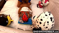 6796 4k UHD Hardcore Ebony Sex Doggy Style Fucking Big Dick Friend After Riding Bike Young Reality Porn Sheisnovember preview