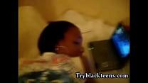 Black girl taking that dick deep doggy