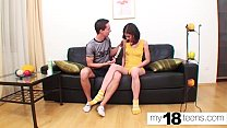 MY18TEENS - Young Guy Hard Fucking Russian Student and Cum Swallow! - Download mp4 XXX porn videos
