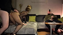 amateur couple fucking while their cuckold frie...