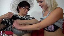 Blonde girl and her boyfriend visited granny Vorschaubild
