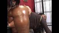 Thick ebony skank Beauty Dior rides a white coc...