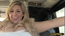 Beautiful runaway bride fucks in the taxi with ...