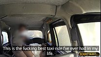 Beautiful runaway bride fucks in the taxi with another guy thumbnail