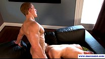 Muscular straight jock assfucks cocksucker