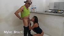 Myke Brazil Recebe Angel Dinizz Em Seu Apartame