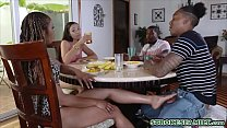 Hot ebony MILF and a black teen chick having a ... Thumbnail