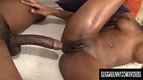 Curvy Black Hoochie Nadia Jay Gets Naked and Takes a Big Dick porn image