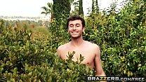 Brazzers - Mommy Got Boobs - Backyard Boobies scene starring RayVeness and James Deen