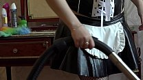 A maid vacuum cleaner and masturbates her ass Thumbnail