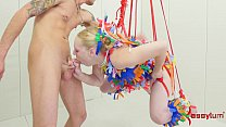 Anal pinata girl gets brutal punishment - 9Club.Top